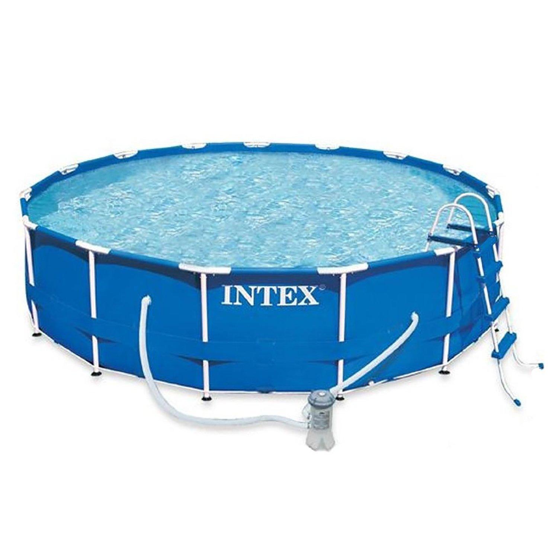 28232 intex 15ft x 36in round metal frame pool 457 cm x for 7in1 set garten pool 457 x 91 cm
