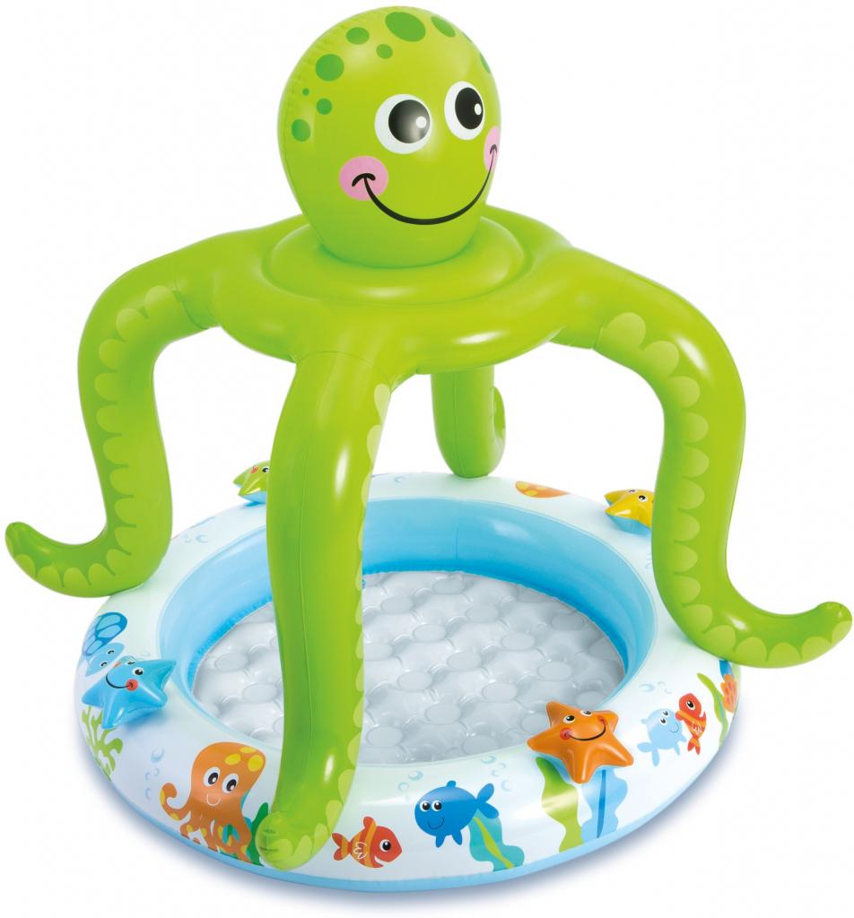 57115 Intex Smiling Octopus Shade Baby Pool 40 Quot D X 41 Quot H